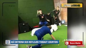 VIDEO: El impactante entrenamiento del portero del Chelsea con pelotas de ping pong
