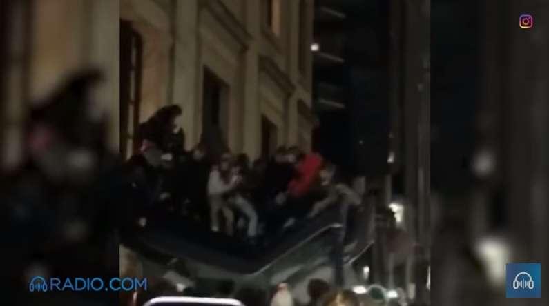 VIDEO: Así colapsó el tejado de un hotel durante los festejos de fans de Eagles