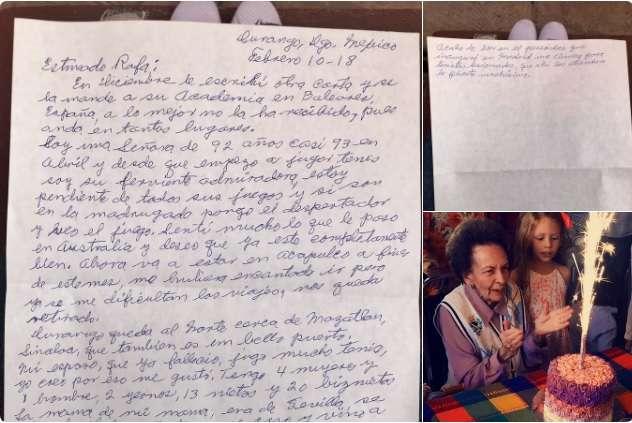 Bisabuela mexicana conmueve a Rafael Nadal con una emotiva carta