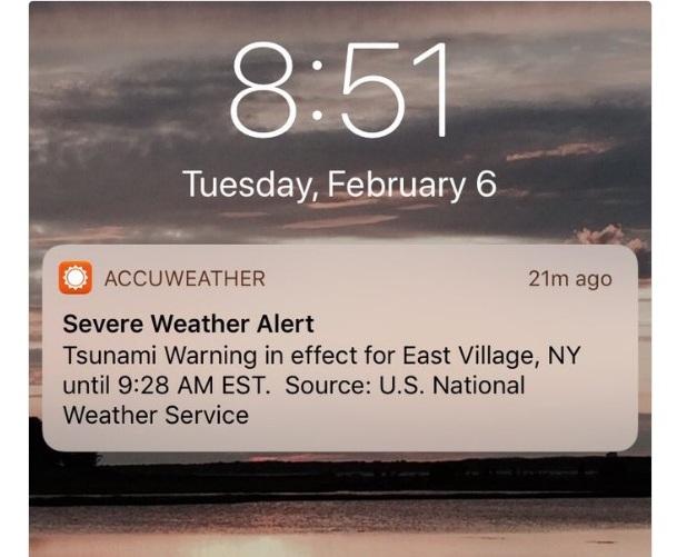 ¡Tranquilos, no viene un tsunami hacia NYC!