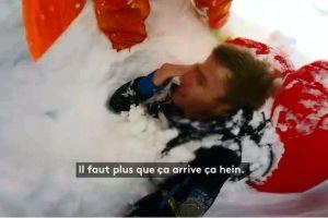 Video: Los minutos más angustiantes de un esquiador luego de haber sido sepultado por una avalancha