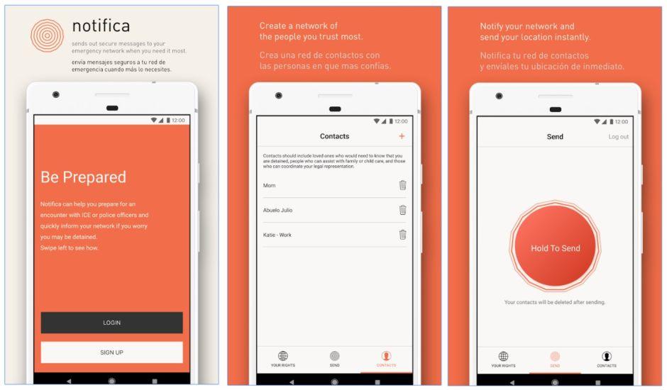 """""""Notifica"""", la aplicación en celulares que ayuda a indocumentados ante redadas de ICE"""