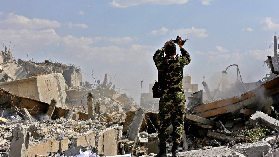 """Siria responde a ataque de EEUU: """"flagrante violación del derecho internacional"""""""