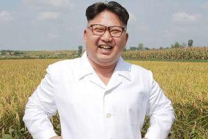 La falsa foto del líder de Corea del Norte, Kim Jong Un, en un ataúd