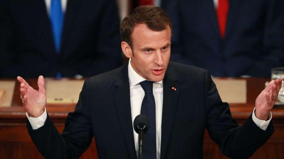 El fuerte discurso antinacionalista de Emmanuel Macron ante el Congreso de EEUU