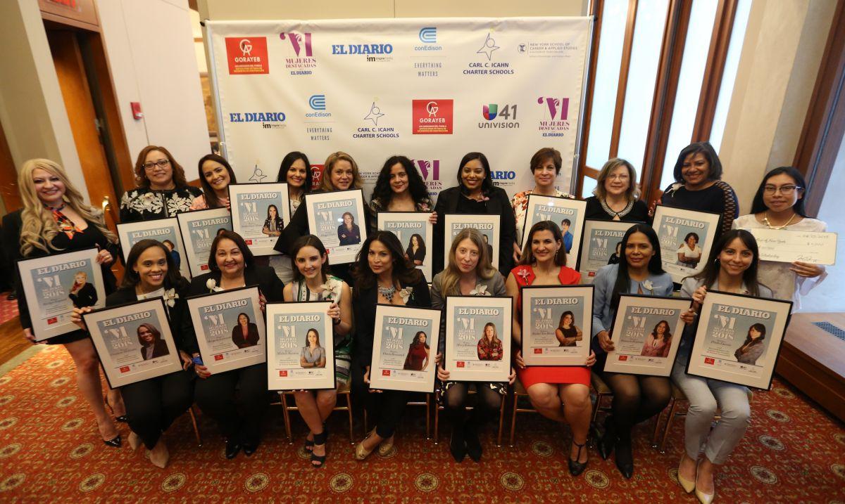 Las 20 Mujeres Destacadas de El Diario 2018 en el Harvard Club en Manhattan.