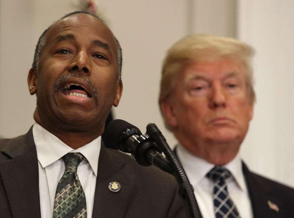Ben Carson, secretario de Vivienda de Trump.  Mark Wilson/Getty Images
