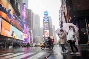 Alerta de frío y aguanieve en Nueva York, Nueva Jersey y otros 7 estados