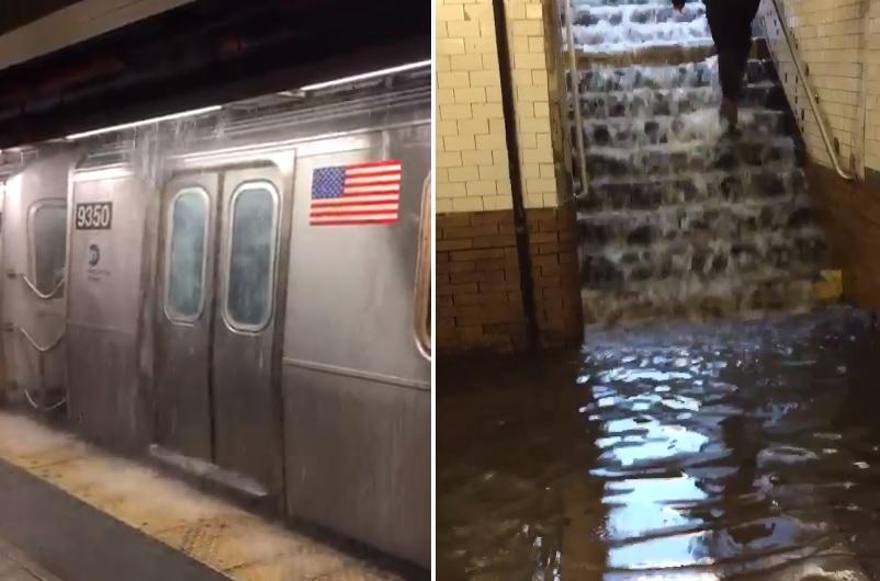 Tormenta en Nueva York causa inundaciones en Subway y casas en Nueva Jersey