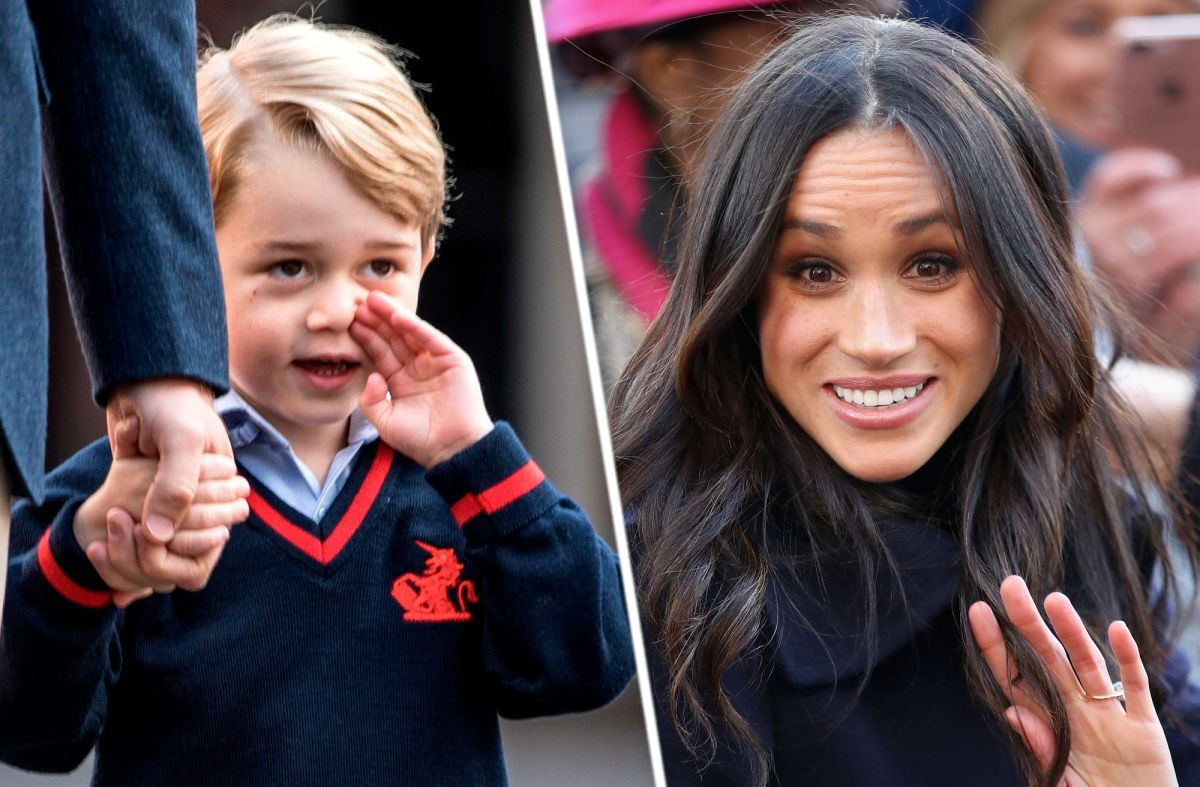 Príncipe George y Meghan Markle