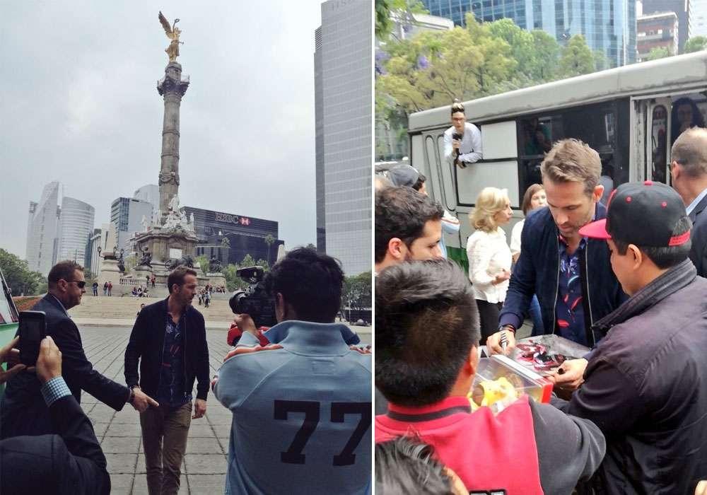 "Ryan Reynolds causa sensación en México y hasta se pasea en ""micro"""