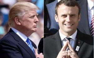 """Trump recibe """"jalón de orejas"""" de Macron horas antes de su llegada a Washington"""