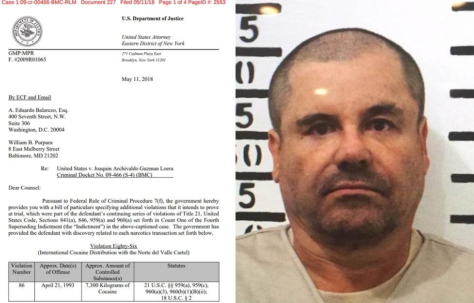 """Los 10 casos contra """"El Chapo"""" que complican su juicio"""