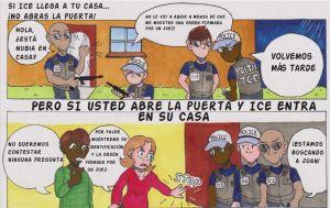 Cómic muestra qué hacer y cuáles son sus derechos si es detenido por ICE