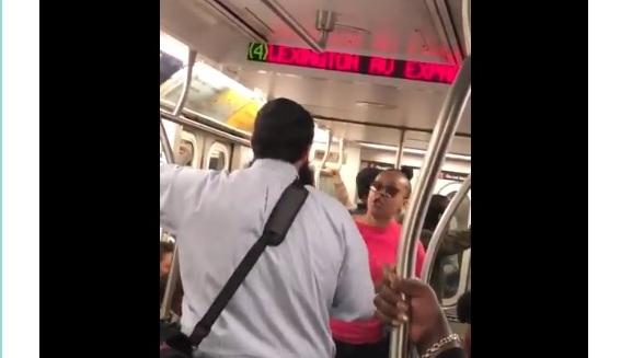 VIDEO: judío y negra se acusan mutuamente de racismo al pelear a gritos en el Subway