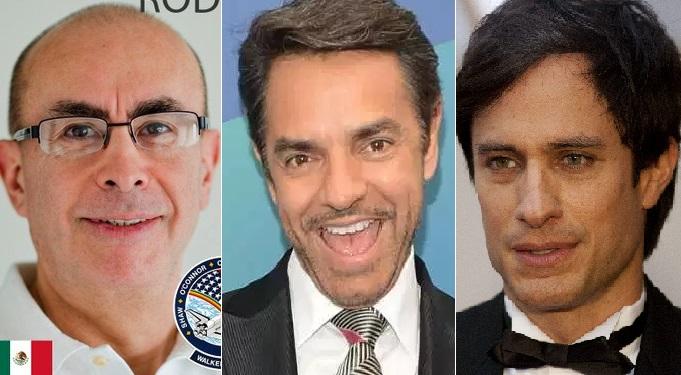 """Astronauta mexicano """"trolea"""" a Eugenio Derbez para defender a AMLO y Gael García se enoja"""