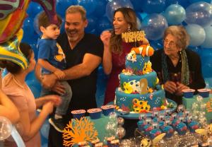 Así festejó Lourdes Stephen el cumpleaños número 2 de su hijo