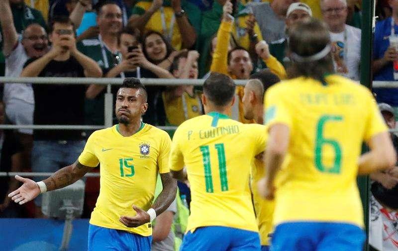 Brasil derrota a Serbia y será rival de México en octavos de final
