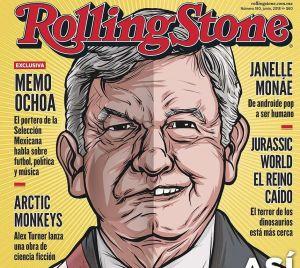 """López Obrador el """"rockstar político"""" del momento, aparece en Rolling Stone"""