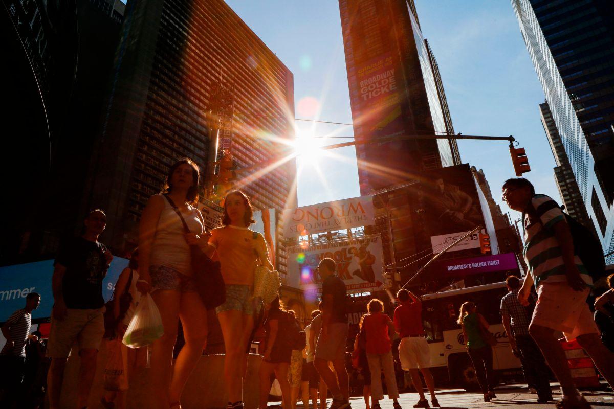 Alertan por altas temperaturas y humedad este lunes en Nueva York