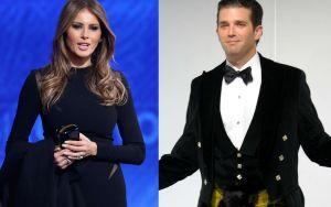El gran parecido de Melania y la nueva novia de Donald Trump Jr.