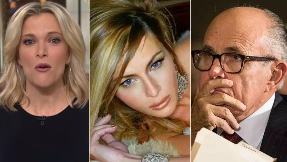 """Megyn Kelly recuerda a Rudy Giuliani: """"¡Melania Trump posó desnuda!"""""""