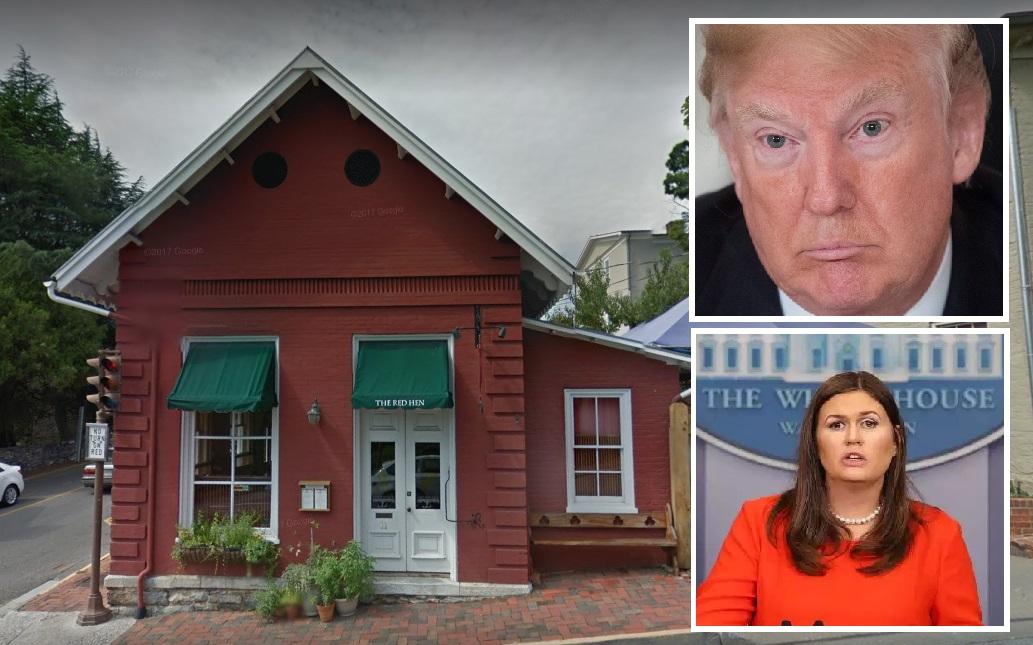 Trump se lanza contra restaurante de donde corrieron a su portavoz Sarah Sanders