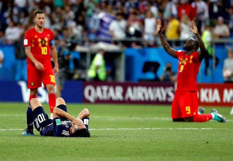 Bélgica avanza a cuartos de final en un partido de infarto contra Japón