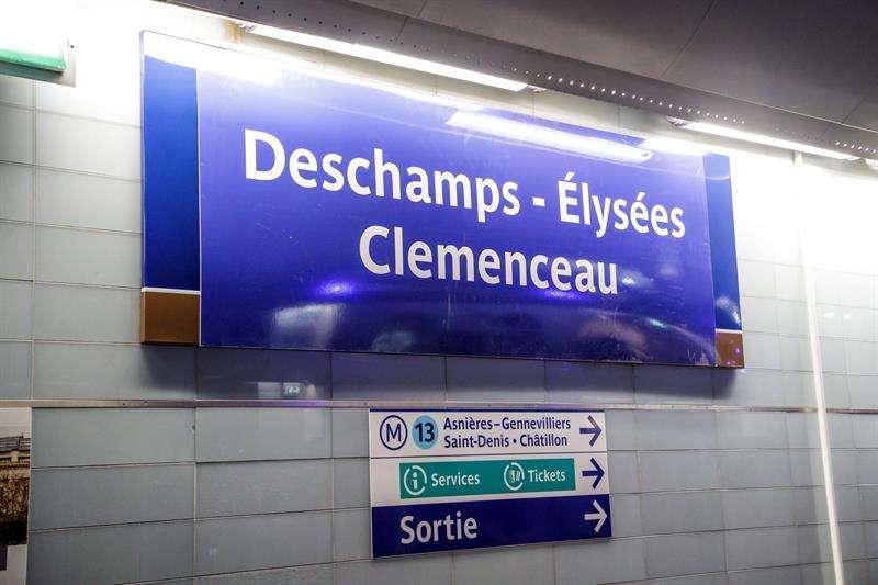 El metro de París homenajea a los campeones del mundo