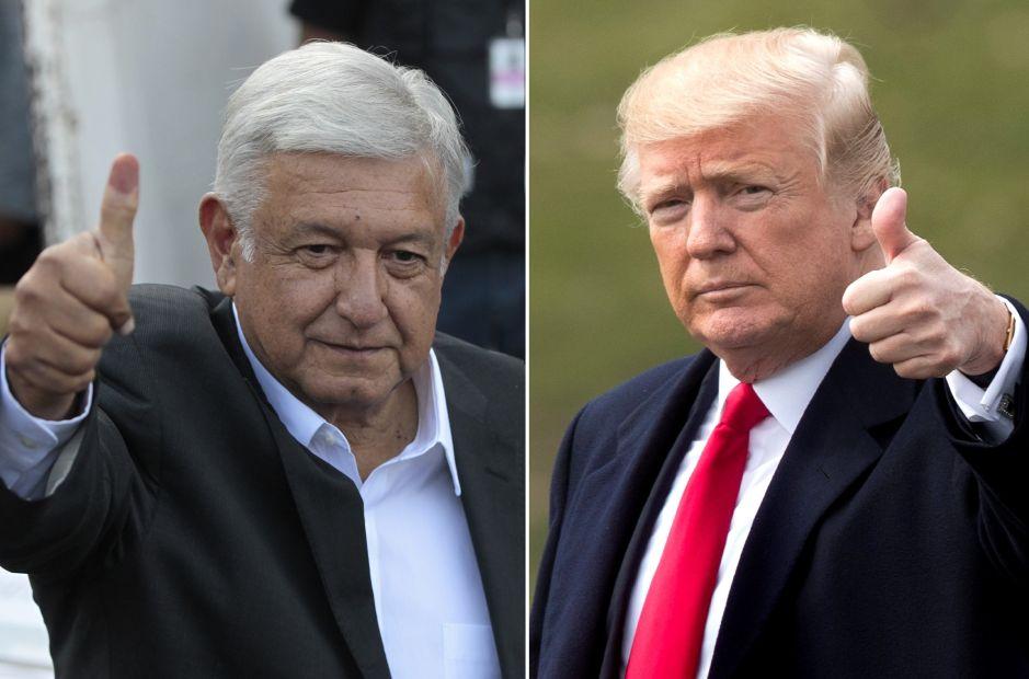 """Trump felicita a AMLO y espera """"con ansias"""" trabajar con él"""