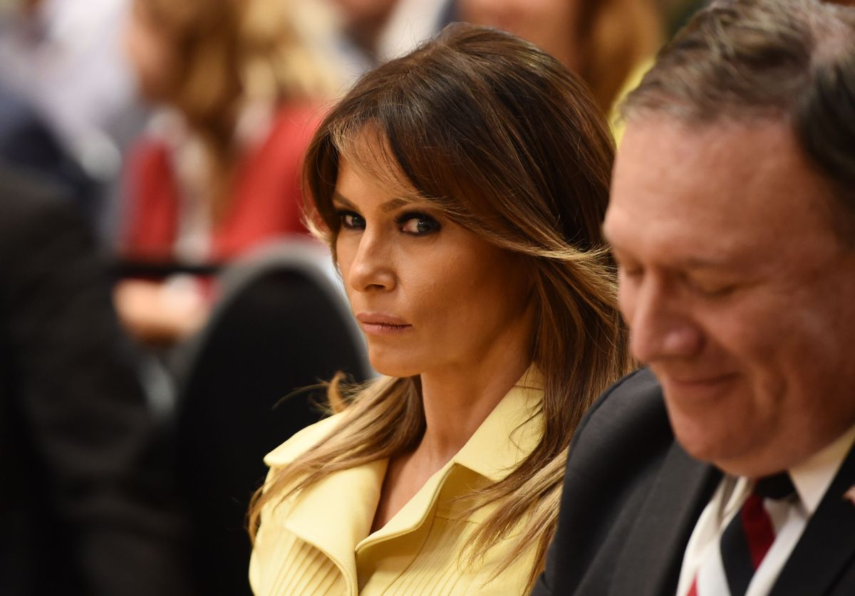 La extraña expresión de Melania Trump tras saludar a Vladimir Putin