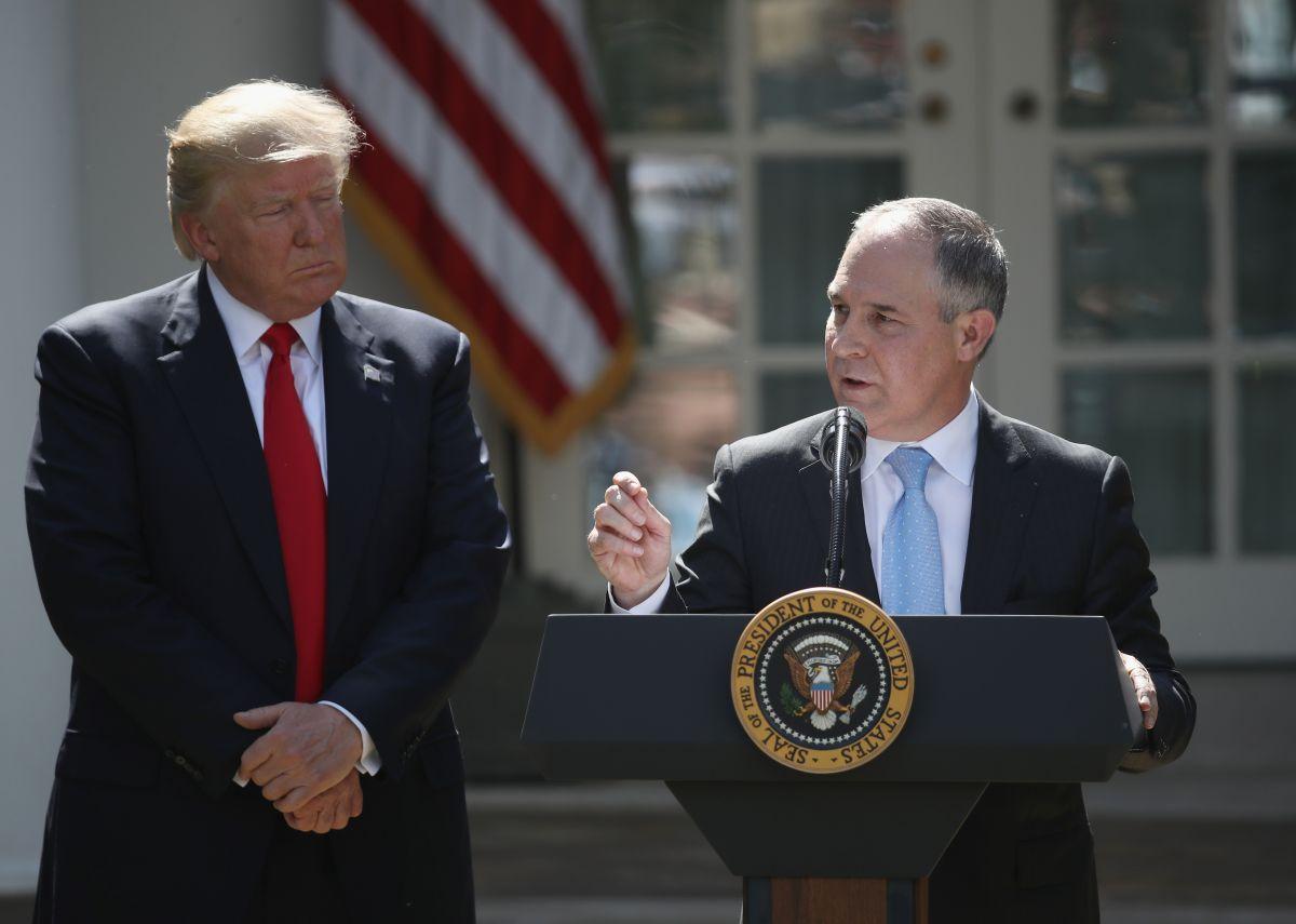 Renuncia Scott Pruitt, el polémico director de Protección Ambiental de Trump