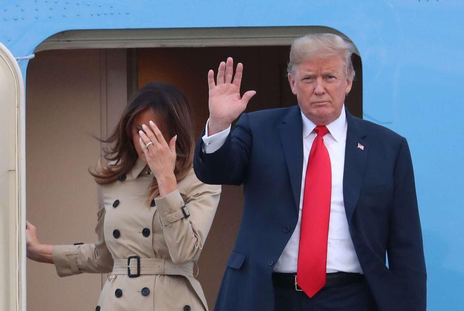Vuelven los rumores sobre la doble que Melania Trump estaría usando en eventos públicos