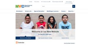 El Departamento de Educación de NYC presenta nueva página web