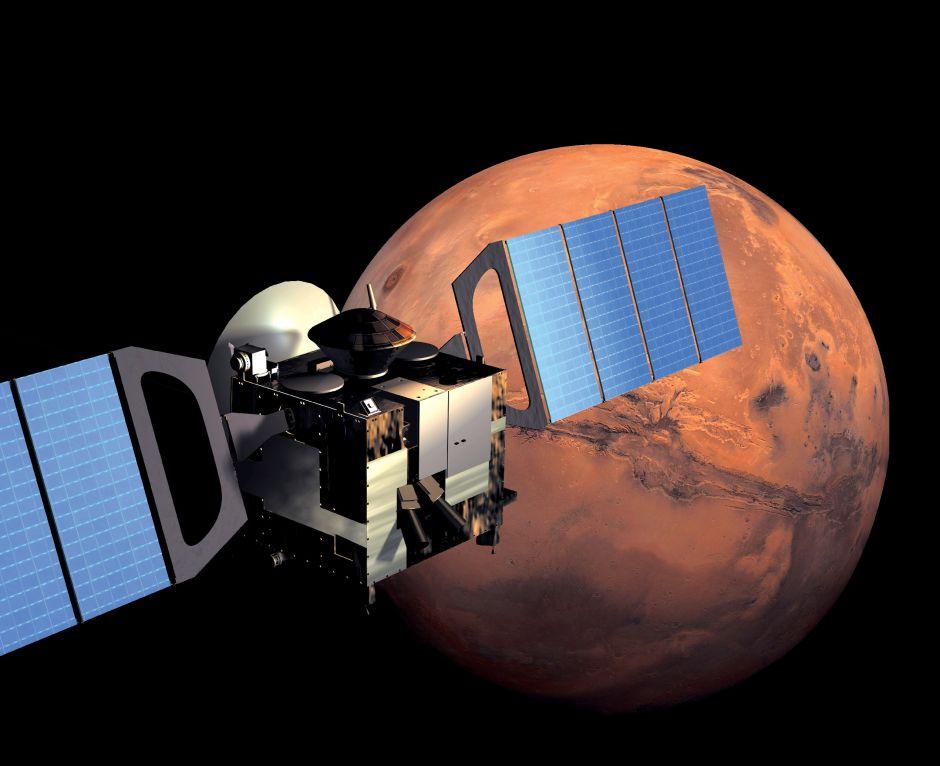 Descubren un gran lago de agua líquida bajo el hielo en Marte