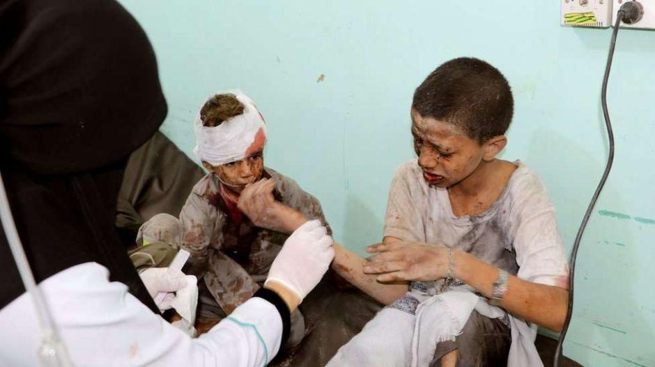 Al menos 29 niños mueren en Yemen tras un ataque aéreo de Arabia Saudita
