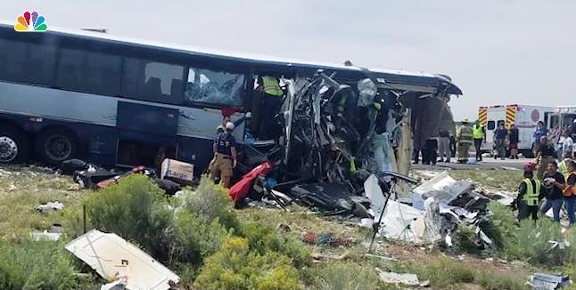 Suben a siete los muertos en accidente de bus Greyhound en Nuevo México