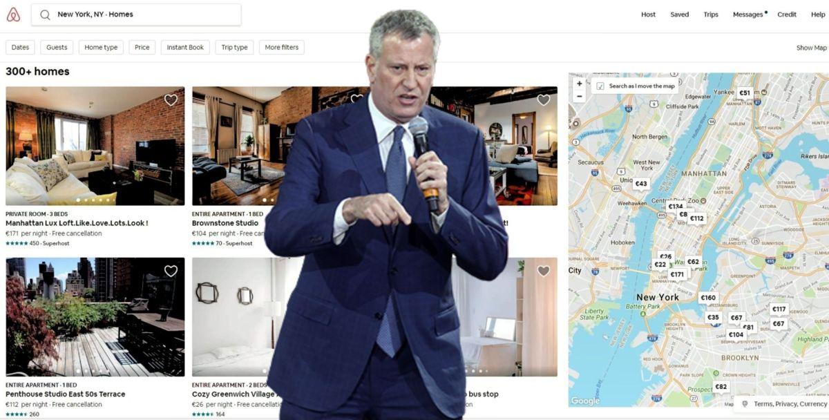 De Blasio firma medida para regular alquileres tipo Airbnb