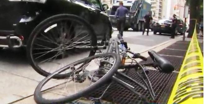 La bicicleta donde viajaba la joven