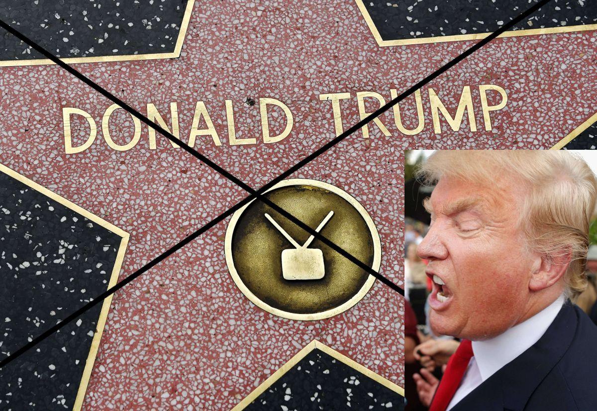 Trump a un paso de perder su estrella en el Paseo de la Fama de Hollywood
