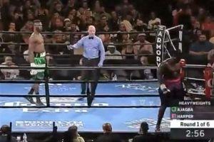 Insólita protesta: ¡Se bajó del ring sin lanzar un sólo golpe!