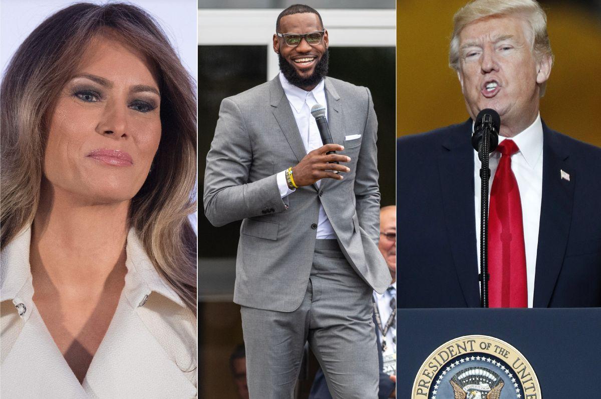 Melania Trump contradice oficialmente al presidente sobre LeBron James