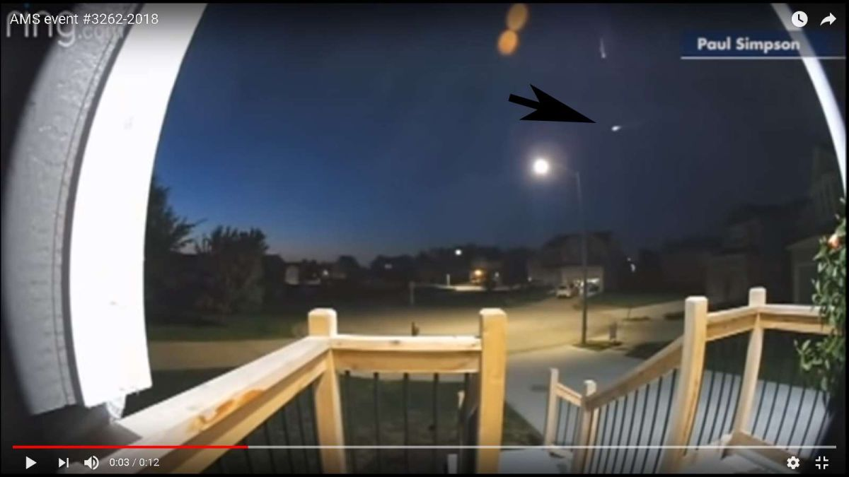 VIDEO: Meteoro ilumina la noche en 8 estados