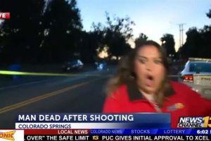 Periodista reportaba crimen en vivo cuando sucedió lo más aterrador