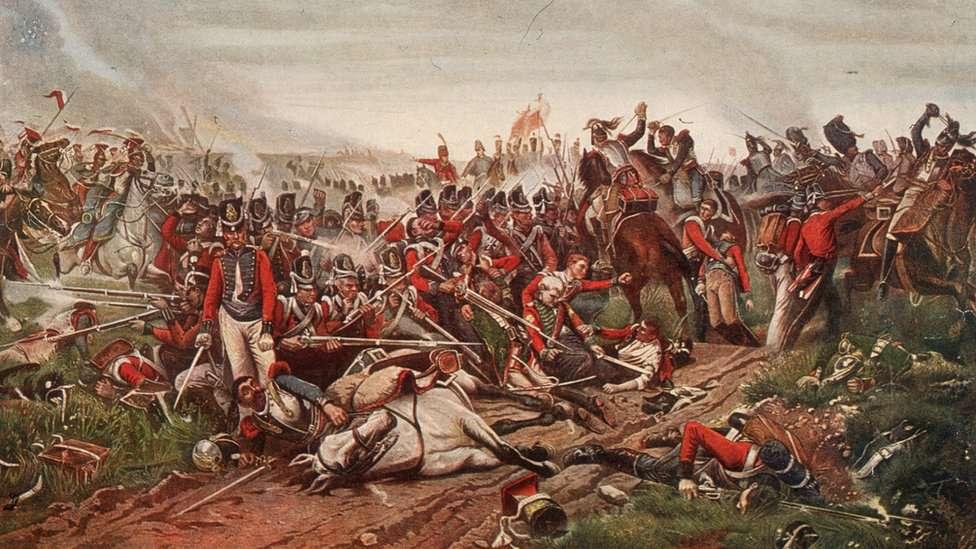 La batalla de Waterloo se peleó en medio del barro y la lluvia.