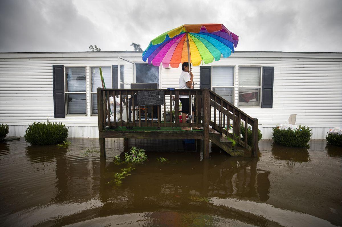 Inundaciones en Lumberton, Carolina del Norte