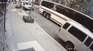 Video muestra cuando conductor de bus le pasa por encima a ciclista de Citi Bike