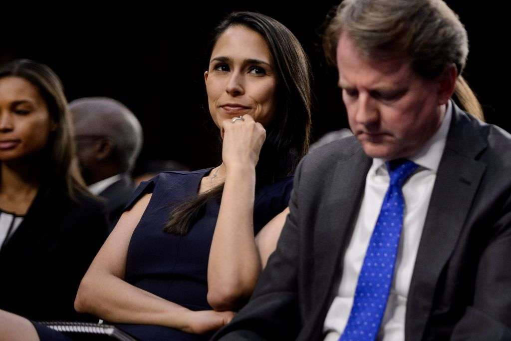 Zina Bash durante la audiencia de Brett Kavanaugh. BRENDAN SMIALOWSKI/AFP/Getty Images
