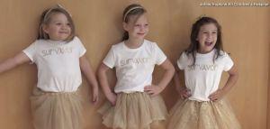Cuatro niñas vencen al cáncer juntas y lo celebran con sesión de fotos