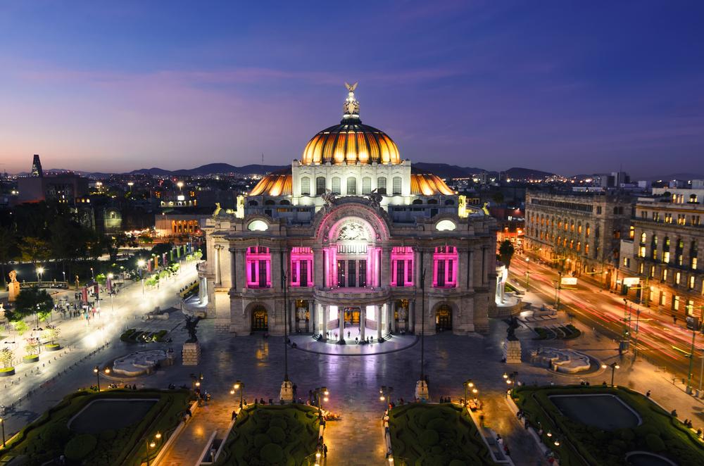 El Palacio de Bellas Artes en la CDMX.